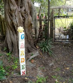 Clay garden totem by Laura Silberman by ClayByLaura