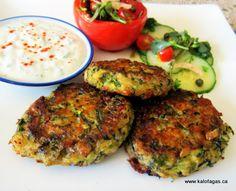 Baked Kolokithokeftedes (Κολοκυθοκεφτέδες στο φούρνο) - Light & Delicious Oven Baked Zucchini Patties