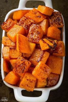 Maple Cinnamon Roasted Butternut Squash @lifemadesweeter