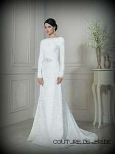 Modest Wedding Dress Kallah Gown from CoutureDeBride lds wedding dress mormon bridal gown