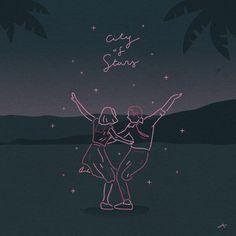 city of stars Damien Chazelle, Star Illustration, Art Anime, Cultura Pop, Illustrations And Posters, Aesthetic Art, Cover Design, Art Inspo, Line Art