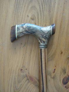 Sindora Burl Exotic Wood Walking Cane  Wooden Cane  by gammamike, $270.00