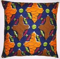 AW11 Untreated cotton African wax print pillow cover