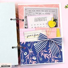 5 Ways to Add Interest to your Mini Albums – Crate Paper Crate Paper, Studio Calico, Drake, Baby Mini Album, Paper Backdrop, Paper Streamers, Scrapbook Paper Crafts, Scrapbooking, Scrapbook Layouts