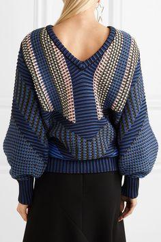 Peter Pilotto - Cotton-blend Jacquard Sweater - Navy