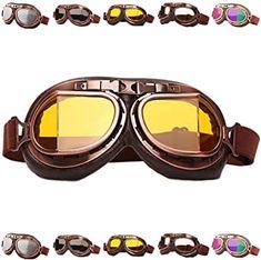 Peicees Vintage Helmet Goggles Motorcycle Goggles Bike Motorcross Pilot Goggle Best Ski Goggles, Snowboard Goggles, Motorcycle Goggles, Vintage Helmet, Best Skis, Pilot, Bike, Memes, Minecraft Houses