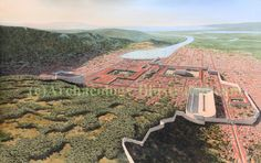 Ephesus on the Aegean coast of Asia Minor, today's Turkey as it was in the 2nd century AD, looking west. Based on much research and Google maps. Balage Balogh/Archaeologyillustrated.com
