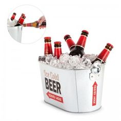 Enfriador cerveza Party Time metalMedidas: cmMaterial: MetalPeso: KG Bucket Cooler, Drink Bucket, Pail Bucket, Beer Bucket, Beer Cooler, Retro Party, Drink Holder, Barbacoa, Fun Drinks