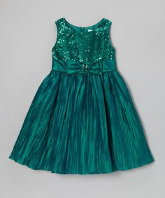 Take a look at this Teal Crinkle Floral Dress - Toddler & Girls by Sweet Heart Rose on #zulily today!