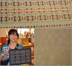 Toikalla vieraillut Ai Nakatani kutoo kimonokankaita. materiaalina on silkki ja kankaat ovat uskomattoman ohuita ja kauniita. Upeita!