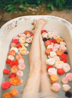 pretty rose bath