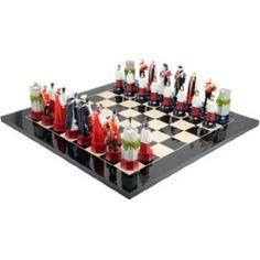 The Queen's Diamond Jubilee Chess Set Black Anegre