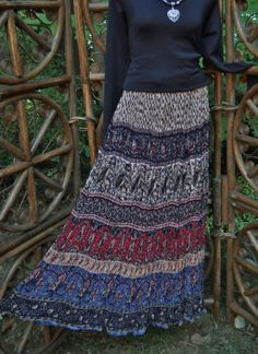 Made in India broomstick skirt size small by LamplightGifts, $18.00