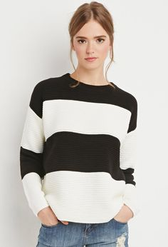 Jersey Punto Grueso Rayas | Forever 21 Mexico