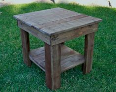 Diy rustic end table rustic end tables pallet end table rustic end table primitive by rustic . diy rustic end table rustic wood Pallet End Tables, Rustic End Tables, Diy End Tables, Wooden Side Table, Coffee And End Tables, Diy Table, Western Furniture, Pallet Furniture, Rustic Furniture