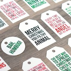 Free printable Christmas movie quote gift tags. A fun, humorous detail for all your Christmas wrappings.
