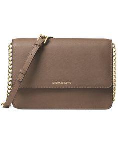 ba917b0dd79a2 Michael Kors Daniela Saffiano Leather Crossbody & Reviews - Handbags &  Accessories - Macy's