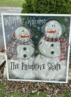 knows that Snowmen are my most favorite thing, ever! Love to paint them, no matter what season it is. Window Screen Crafts, Window Art, Window Screens, Screen Doors, Window Ideas, Christmas Shows, Christmas Projects, Holiday Crafts, Christmas Stuff