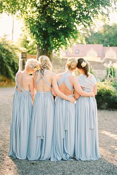 Baby blue bridesmaid dresses: Photography : Ashlee Taylor Read More on SMP: http://www.stylemepretty.com/2016/06/06/an-english-garden-wedding-with-the-prettiest-shades-of-powder-blue/