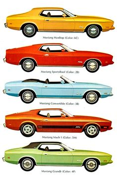 '73 Ford Mustang line-up