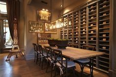 I totally want a wine wall in my future home | Remodeled Craftsman Houston Lymbar (9)