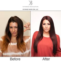 Before And After Hair Extensions By Di Biase Fusion Are A
