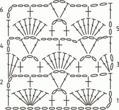 Crochet Shell Stitch as Marine Coral with photo, description and crochet chart Crochet Scarf Diagram, Crotchet Stitches, Crochet Shell Stitch, Crochet Stitches Patterns, Crochet Motif, Crochet Designs, Filet Crochet Charts, Stitch Patterns, Knitting Patterns
