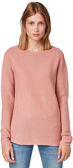 Schön!  Bekleidung, Damen, Pullover & Strickjacken, Pullover Toms, Tom Tailor, Sweatshirts, Sweaters, Fashion, Sweater Cardigan, Knit Patterns, Summer, Clothing