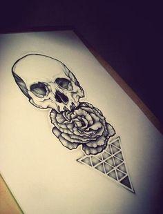 Geometric Triangle Tattoos Skull design tattoo #skull