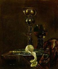 Stillleben mit Akeleipokal, Römer,..., 1649