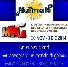 Vieni a trovarci al M.I.G! Un mondo di golose novità targate Nutman che ti sorprenderanno!