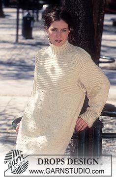 DROPS Sweater in Alaska and Cotton Viscose (Long or short model) ~ DROPS Design