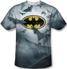 Batman Logo And Flying Bats T-ShirtGreat Batman T-Shirts