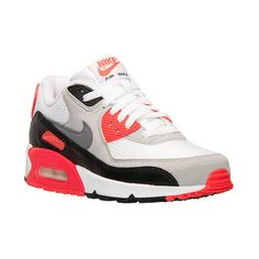 Women's Nike Air Max 90 OG Running Shoes ($125) ❤ liked on Polyvore featuring shoes, athletic shoes, synthetic shoes, nike footwear, patterned shoes, print shoes and nike shoes