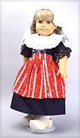 Dutch girl dress for American Girl doll...shout out to my family that lives in Middleburg, Holland :)