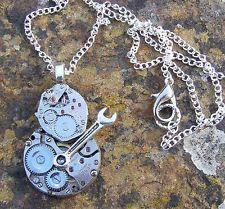 Reloj Maker Steampunk Colgante Collar Hecho A Mano artístico y artesanal,