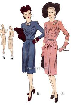 1942 Vogue Special Dresign Dress
