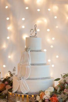 Extremely elegant wedding cake: http://www.stylemepretty.com/texas-weddings/2015/01/28/elegant-outdoor-autumn-wedding/ | Photography: Archetype - http://archetypestudioinc.com/