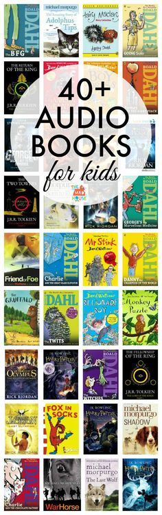 Over 40 audio books for kids of all ages. Do your kids like audio books?  They can be a great learning tool and have lots of benefits