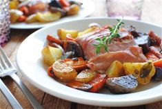 Prosciutto-Wrapped Salmon with Roasted Vegetables  http://www.electricmaninc.com/
