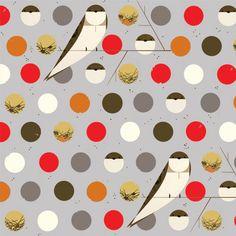 Charley Harper Fabric / Birch