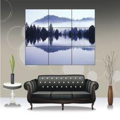Grey Reflection Wall Art Poster Print New