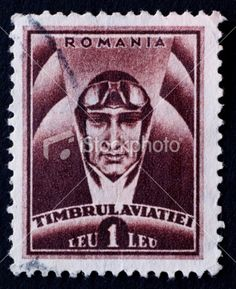 PASSPORT ROmanian postage stamp Royalty Free Stock Photo
