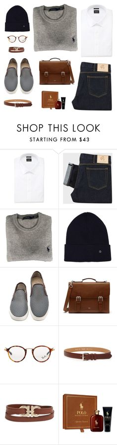 """""""I Would Like My Boyfriend To Dress Like This"""" by dianakhuzatyan ❤ liked on Polyvore featuring Neiman Marcus, NN.07, Mulberry, Ray-Ban, A.P.C., Salvatore Ferragamo, Ralph Lauren, men's fashion, menswear and polyvoreeditorial"""