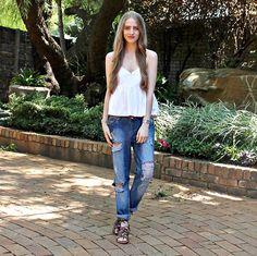 More looks by Nikki S: http://lb.nu/fashionablepassion  #casual #minimal #simple #boyfriendjeans #denim #sandals #peplum #southafrica #summer