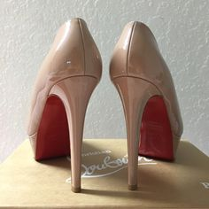 $450 Authentic Christian Louboutin Bianca Authentic Christian Louboutin Bianca Nude Patent Leather 120mm Size 36.5. Excellent Condition. Selling for a friend. No Trade. Christian Louboutin Shoes