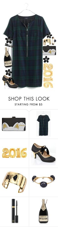 """""""Happy 2016!!!"""" by lmacouture ❤ liked on Polyvore featuring Edie Parker, Madewell, SHAN, Alanna Bess, Bourbon and Boweties, Tom Ford and Kate Spade"""