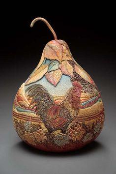 pinterest gords | Amazing Gourd Carving Art by Marilyn Sunderland – DesignSwan.com