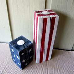 andrublog - American Flag candle holders July 4th Decorations by WireHearts on Etsy,