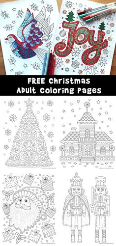 12 Gorgeous And Fairly Easy Christmas Adult Coloring Pages Free To Print